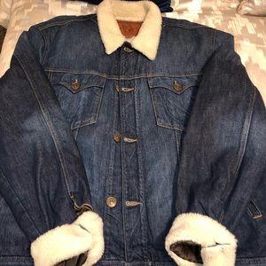 TRUE RELIGION Denim X Fur Jacket